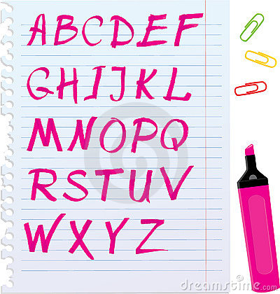 Free Letters Are Made By Marker Royalty Free Stock Photography - 22278647