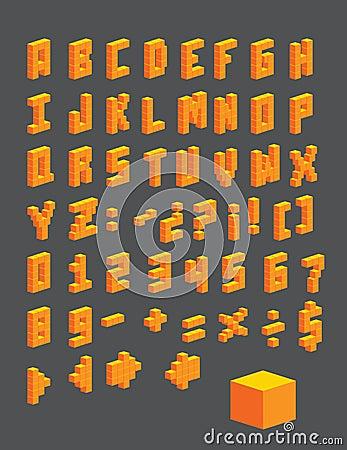 Letters cubes