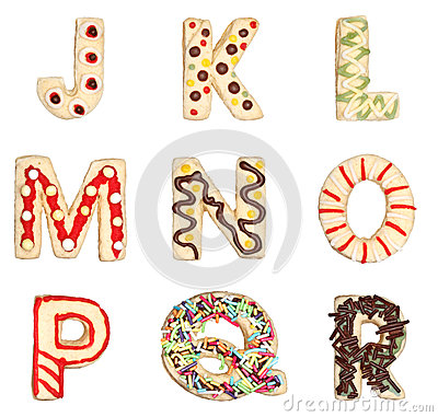 Free Letters J To R From Decorated Cookies Stock Photography - 27216782