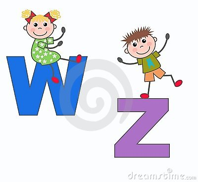 Letters letters W and Z