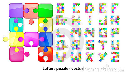 Letters Puzzle Royalty Free Stock Photo - Image: 23307485
