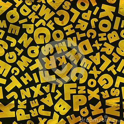 Letters. Seamless pattern.