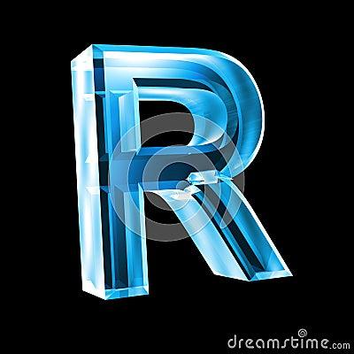lettre r en glace bleue 3d photos libres de droits image 5153518. Black Bedroom Furniture Sets. Home Design Ideas
