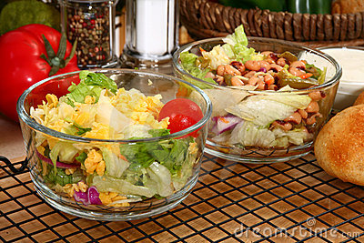 Lettuce and Bean Salads