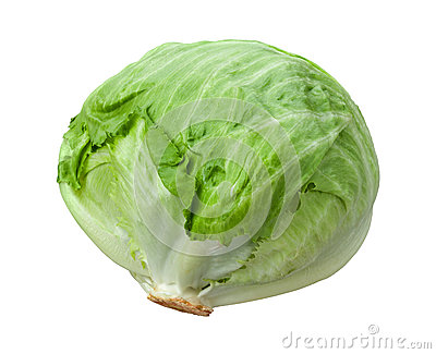 Lettuce Head Isolated on White