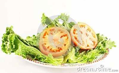 Lettuce and tomatoe