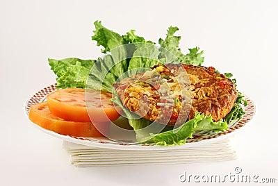 Lettuce tomatoe and pizza