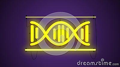 Leuchtstoff helle DNA, wissenschaftliche Konzepte und Technologie, Hintergrund, DNA-Struktur, molekulare Fluoreszenz, Moleküle lizenzfreie abbildung
