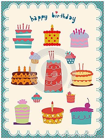 Leuke en zoete geplaatste cakes