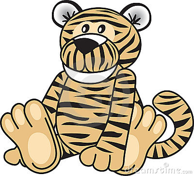 Leuke tijgerzitting