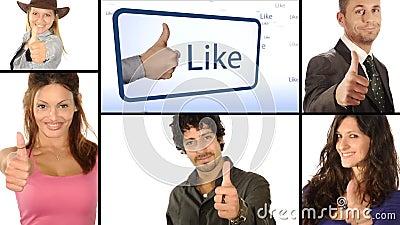 Leute mögen es, Collage stock video footage