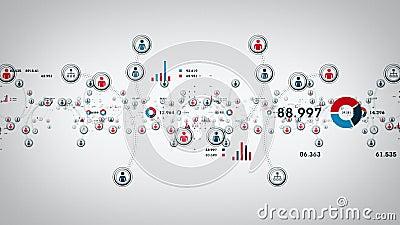 Leute und Daten-Weiß