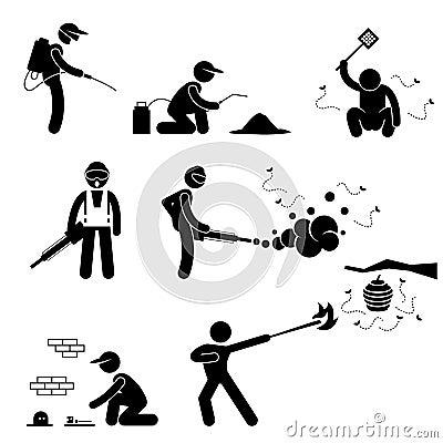 Leute-Vernichter Pest Control Pictogram