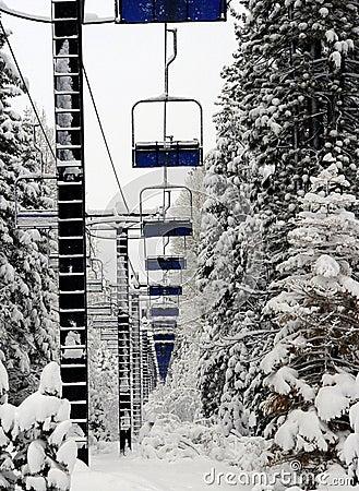 Levage de ski vide