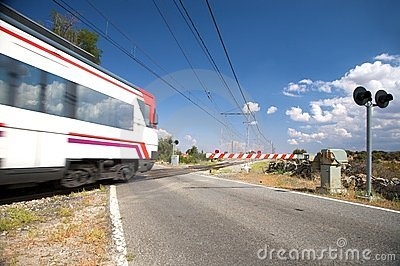 Level crossing train