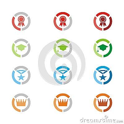 Free Level Icons, Level Badges Royalty Free Stock Photo - 33821935