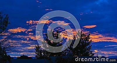 Lever de soleil au-dessus du Mexique