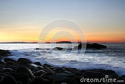 Lever de soleil d océan
