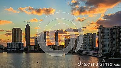 Lever de soleil de Miami clips vidéos
