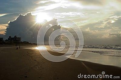Lever de soleil, Emerald Isle, la Caroline du Nord