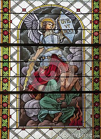 Levoca - Saint Michel - windowpane