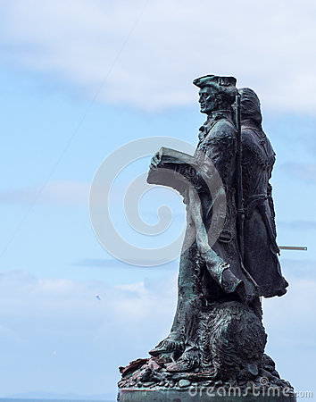 Lewis and Clark statue Editorial Stock Image