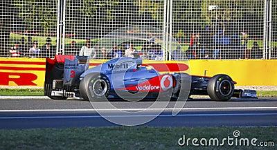 Lewis Hamilton And McLaren Editorial Stock Photo
