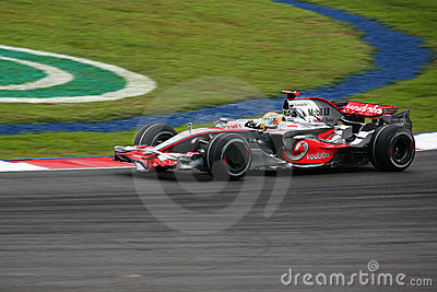 Lewis Hamilton McLaren Mercedes F1 2008 Editorial Photo