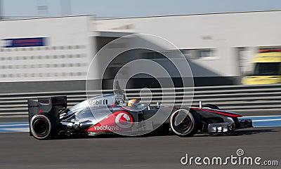 Lewis Hamilton in motion Editorial Photo