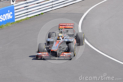Lewis Hamilton win 2012 F1 Canadian Grand Prix Editorial Image