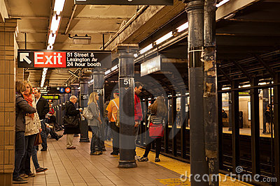 Lexington Ave/51st Subway Station Editorial Stock Photo