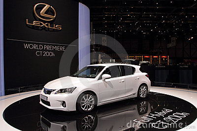 Lexus CT200h Premiere - 2010 Geneva Motor Show Editorial Stock Photo