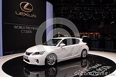 Lexus CT200h Premiere - 2010 Geneva Motor Show Editorial Stock Photo