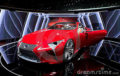 Lexus LF-LC Hybrid Concept 2012 NAIAS Editorial Stock Photo
