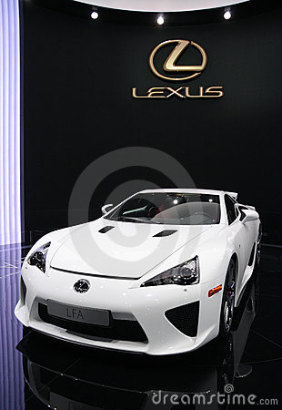 Lexus LFA Sports at Paris Motor Show Editorial Image