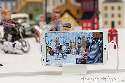 LG FLEX, MOBILE WORLD CONGRESS 2014 Editorial Photography