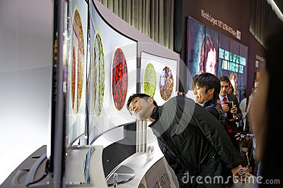 LG 4K Curved OLED Display CES 2014 Editorial Photography