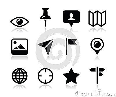 Läge kartlägger den resande symbolsuppsättningen -