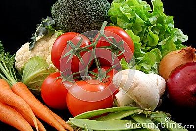 Légumes sains frais
