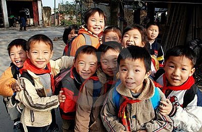 Li An, China: Chinese Schoolchildren Editorial Stock Image