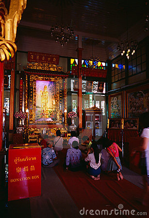 Li Thi Miew Chinese Temple Editorial Photography