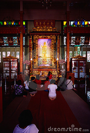 Li Thi Miew Chinese Temple Editorial Stock Photo