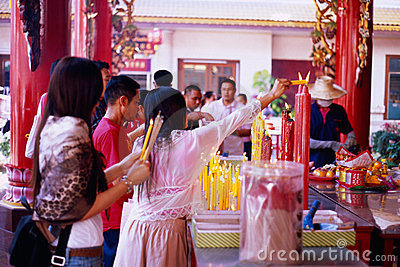 Li Thi Miew Chinese Temple Editorial Image