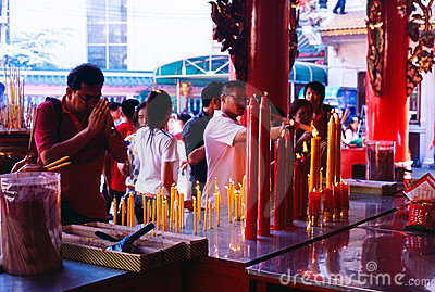 Li Thi Miew Chinese Temple Editorial Stock Image