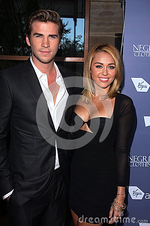 Liam Hemsworth, Miley Cyrus at the Australians in Film 8th Annual Breakthrough Awards, Hotel Intercontinental, Century City, CA 06 Editorial Image
