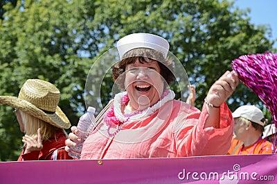 Libby Davies at Vancouver Pride Parade Editorial Photo
