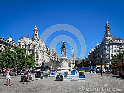 Liberdade Square, Porto Editorial Photo