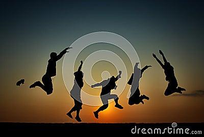 Libertà di felicità di mattina