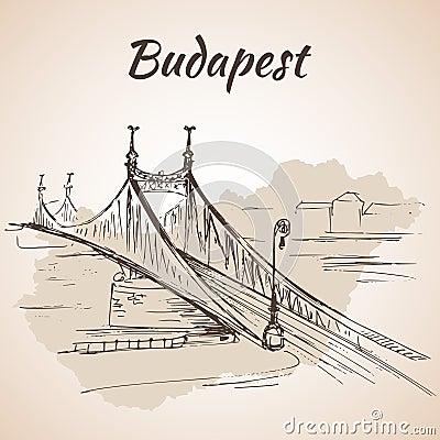 Free Liberty Bridge In Budapest, Hungary. Royalty Free Stock Photos - 75517418
