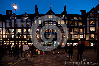 Liberty department store in London Editorial Photography